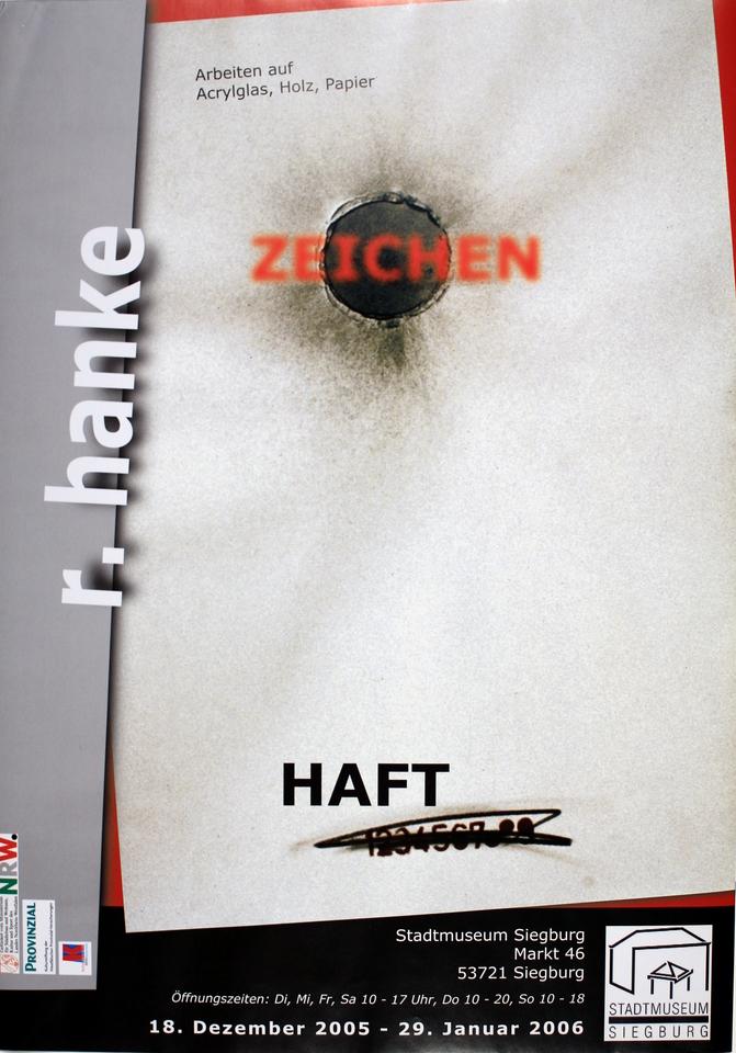 Ausstellungsplakat Zeichen_Haft Siegburg Stadtmuseum Ausstellung