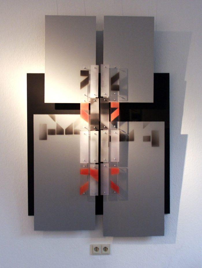 Acrylglasobjekt Licht Ausstellung Stadtgalerie Altena glasklar 2012 Pressemeldung Einladung