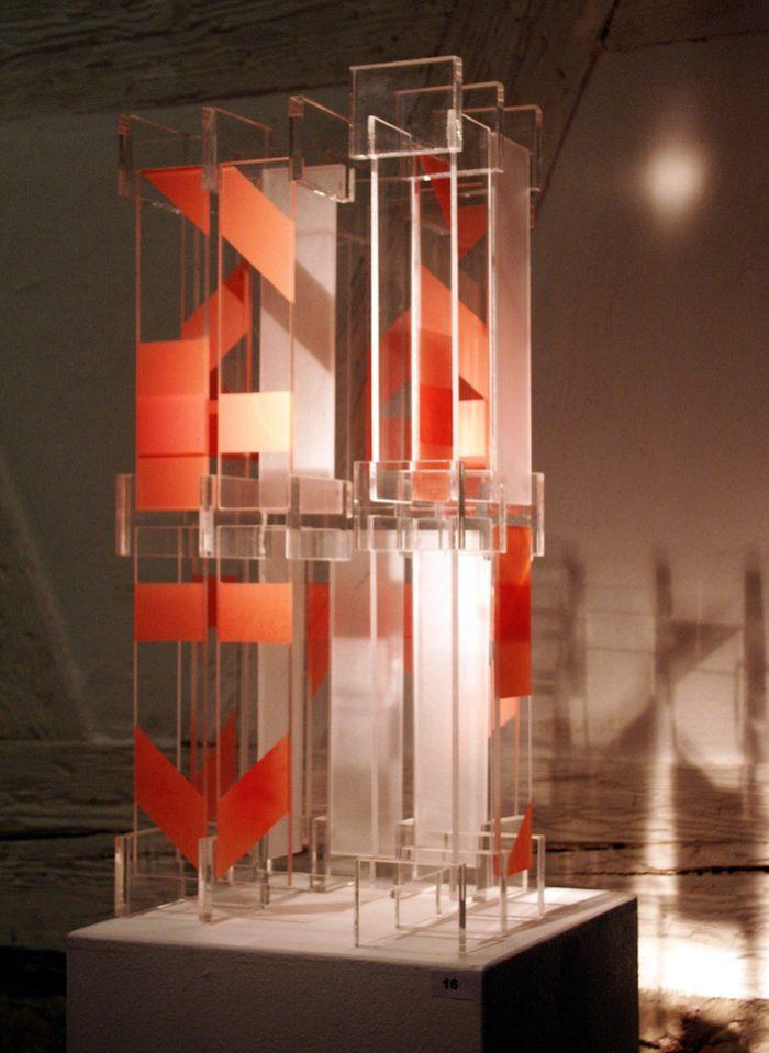 Acrylglasobjekt Licht Ausstellung Zeichen Staedtische_Galerie Ditzingen Hanke Künstler