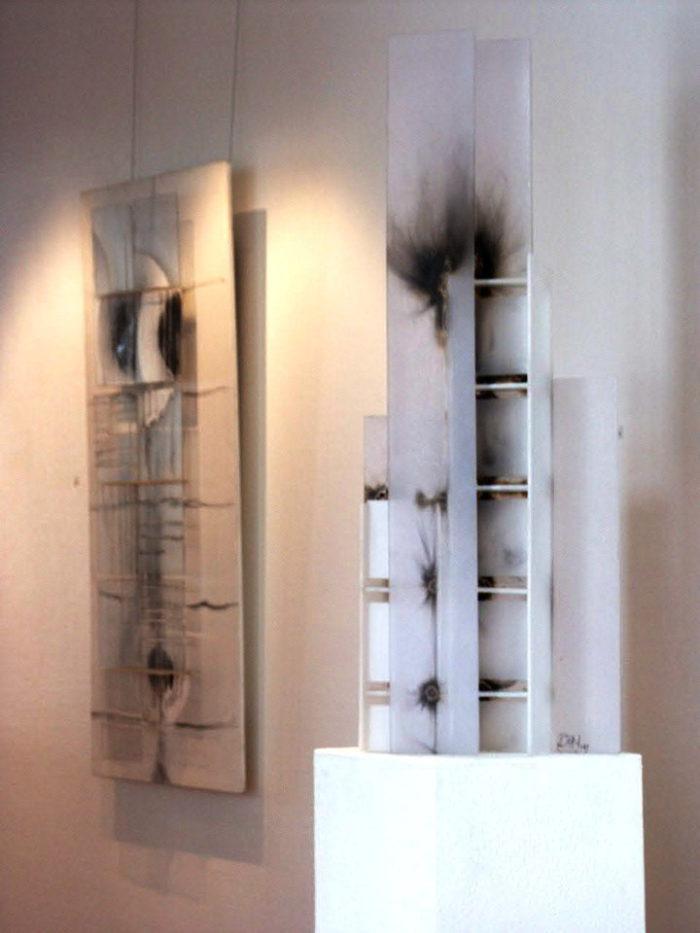 verbranntes_Acrylgalsobjekt Künstler hanke Schein IHK_Galerie Siegen Ausstellung