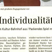 link kreuztal kultur-bahnhof pressemeldung Individualität hanke kuenstler ausstellung