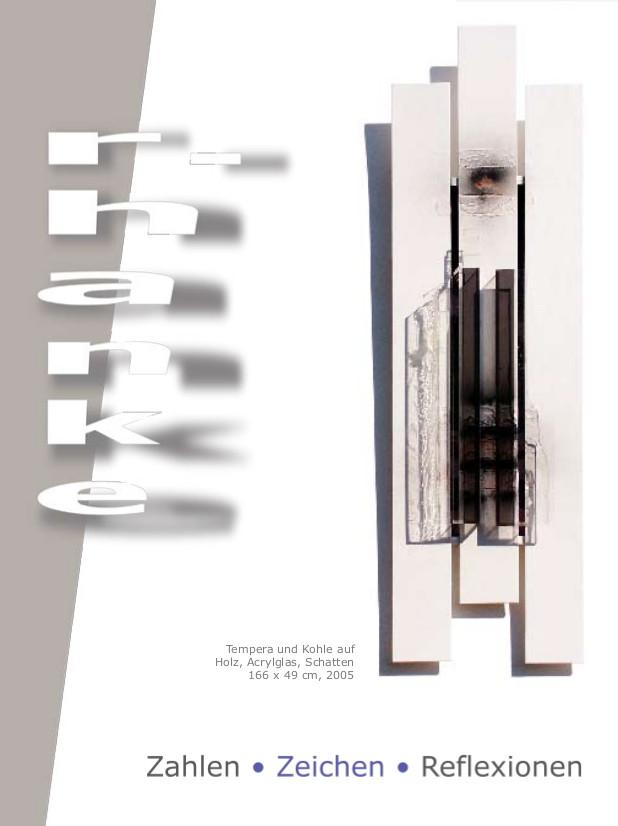flyer zahlen_zeichen_reflexionen hanke kuenstler selbstverlag originaldesign