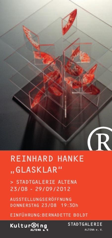 Einladungskarte glasklar Altena Staedtische_Galerie Ausstellung Schein Hanke Kuenstler