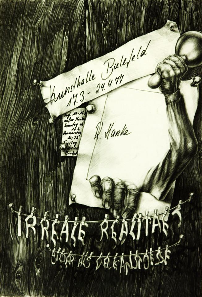 Ausstellungsplakat Irreale_Realitaet Hanke Kuenstler Kunsthalle_Bielefeld