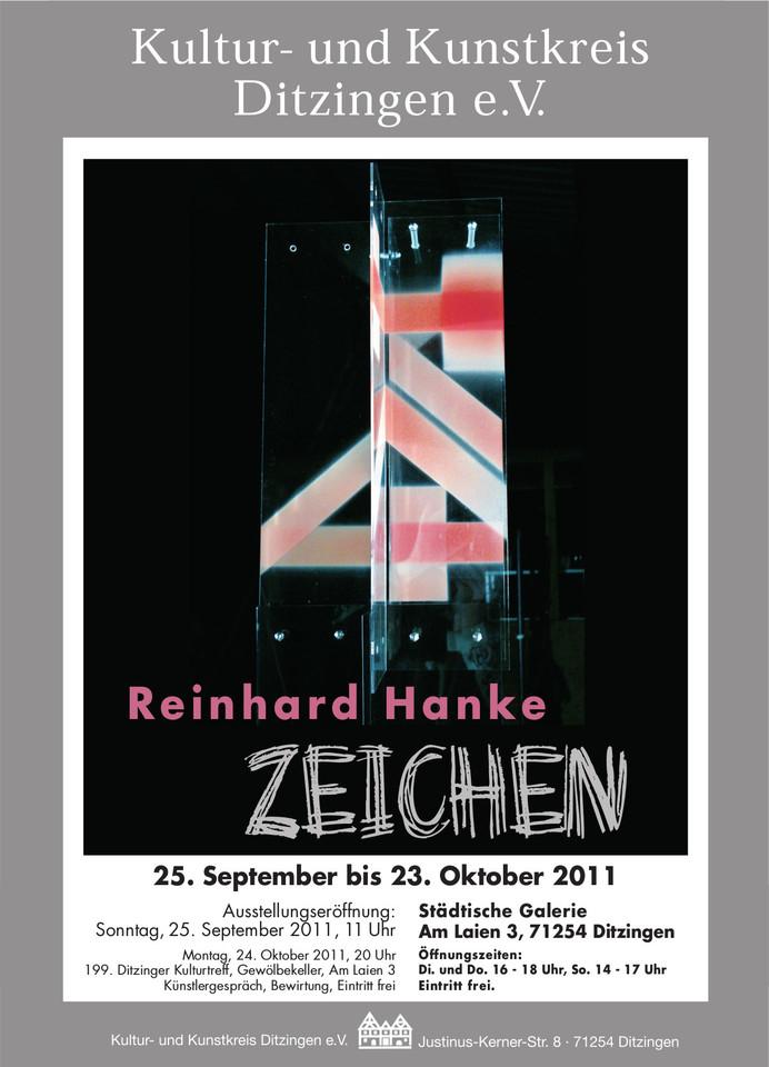 Ausstellungsplakat zeichen Ditzingen Staedtische_Galerie Ausstellung Schein Hanke Kuenstler