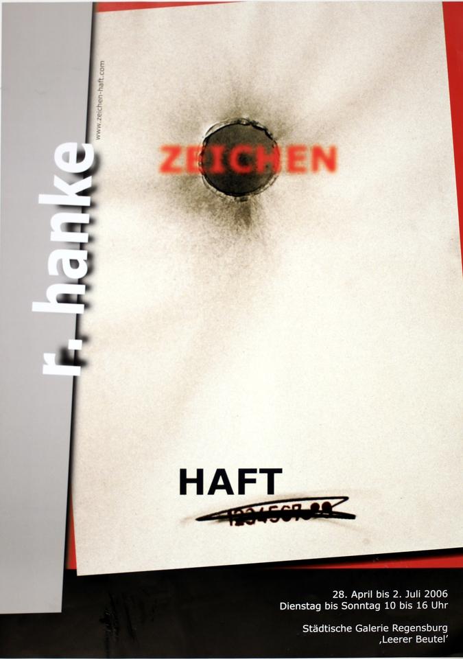 Ausstellungsplakat Zeichen_Haft Regensburg Staedtische_Galerie Ausstellung