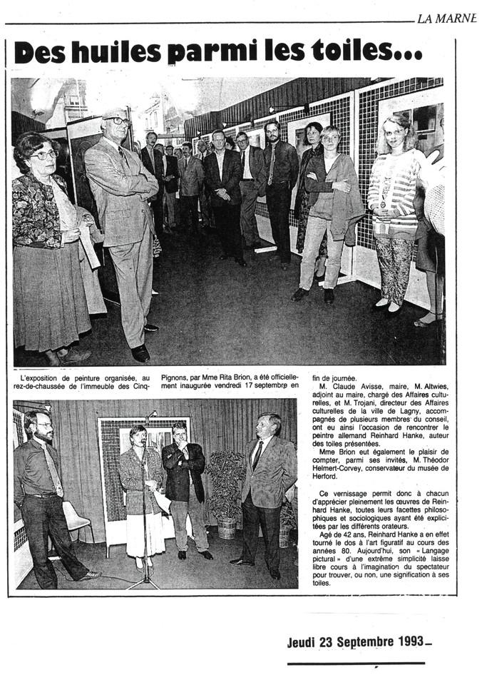 La_Marne Cinq-Pignons Zeitung Presse Zeitungsbericht Des_huiles_parmi_les_toiles Stadtgalerie Kunstausstellung Künstler