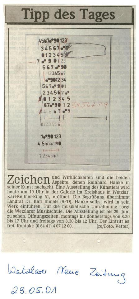Wetzlarer_Neue_Zeitung WNZ Presse Zeitungsbericht Zeichen_und_Wirklichkeiten Kunstausstellung Kreishaus Künstler Zeichen Wirklichkeit Aspekt