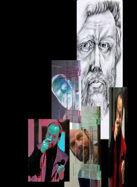link vektorgrafik collage portrait vita hanke kuenstler