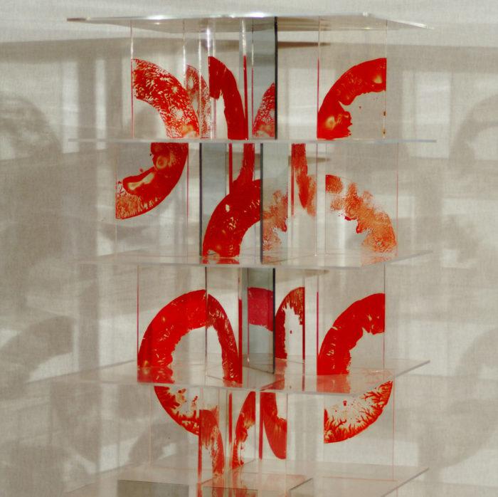moderne Kunst unorthodox Lichtreflex transparent Acrylglas Modul Segment Raster Komponente Element abstrakt reduziert signifikant standardisiert normiert Variation komplex Kontrast kombiniert Ordnung Chiffre Multilayer Raum Ebene Täuschung Inspiration Imagination assoziativ Assoziation Phantasie Individualität mehrdeutig Konzeptkunst