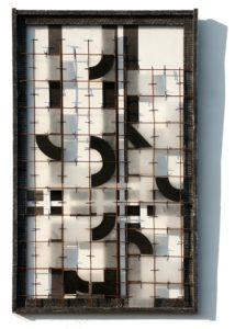 moderne Kunst Tableau Modul Segment Raster Partikel Komponente Element Kreissegment Verquickung standardisiert austauschbar normiert variabel Typisierung transparent komplex Modifikation schwarz-weiß monochrom kombiniert Struktur Systematik Ordnung Relation Zeichen Umformung Überlagerung Multilayer Raum Ebene Konzeptkunst