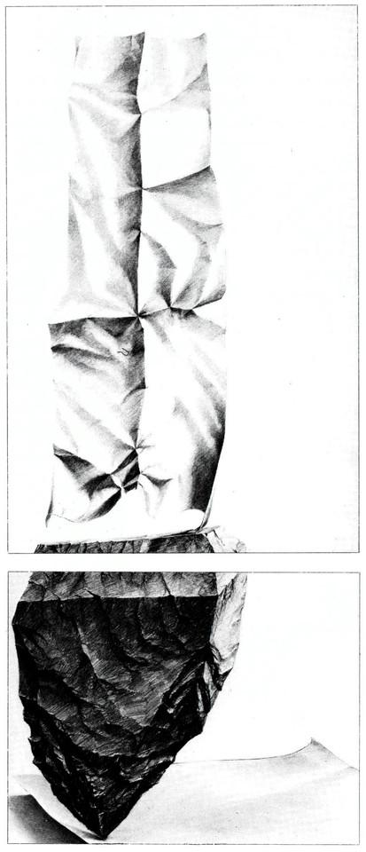 moderne Kunst ungewöhnlich Handzeichnung Papier Statue variabel Illusion Täuschung Schein figurativ realistisch reduziert doppelbödig mehrschichtig kontrastreich kombiniert Beziehung Kopplung Bildgleichnis Symbol mehrdeutig assoziativ Reflexion Imagination Phantasie Zeitkritik Fiktion Wirklichkeit Realismus